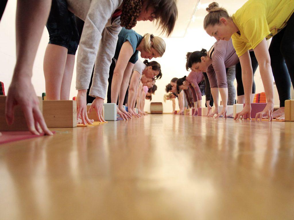 Samstags-Workshops: Yoga Workshops in Karlsruhe, 1,5 - 2 Stunden, zum Kennenlernen, Nachholen oder Vertiefen. Individuelle Betreuung. Yogastudio Die Matte