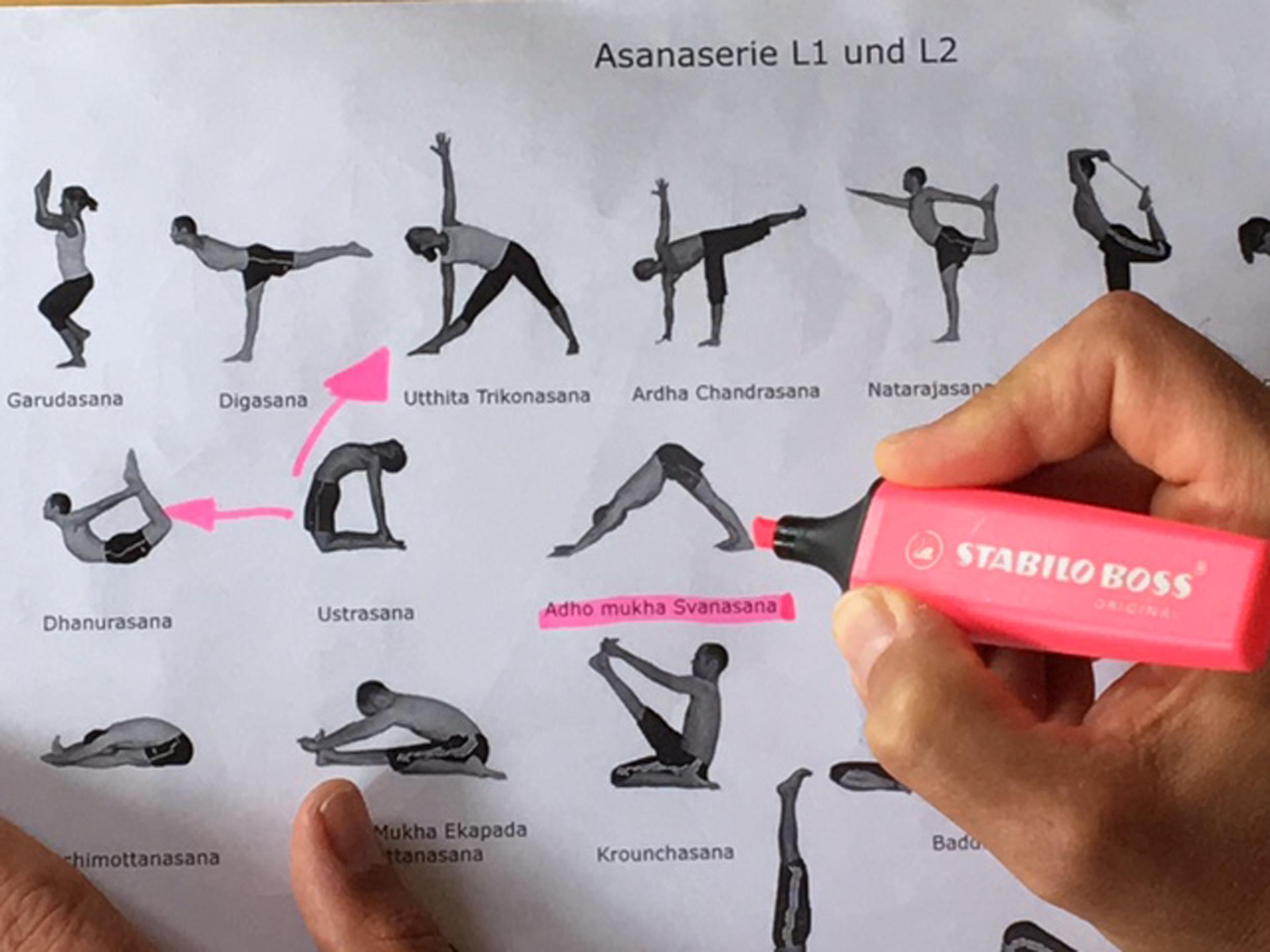 Didaktik Yogalehrer Ausbildung. Yogastudio die Matte